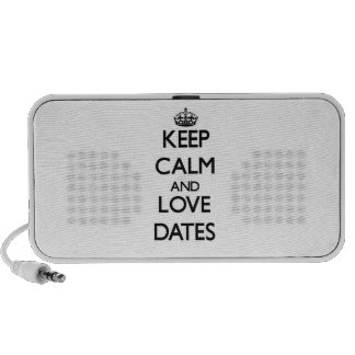 Keep calm and love Dates Notebook Speaker