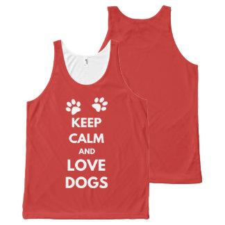 Keep calm and love dogs All-Over print singlet