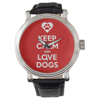 Keep Calm And Love Dogs eWatchFactory Watch