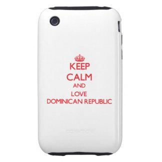Keep Calm and Love Dominican Republic Tough iPhone 3 Case