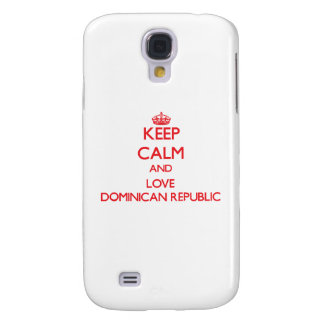 Keep Calm and Love Dominican Republic Galaxy S4 Covers