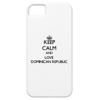 Keep Calm and Love Dominican Republic iPhone 5 Covers
