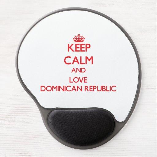 Keep Calm and Love Dominican Republic Gel Mousepad