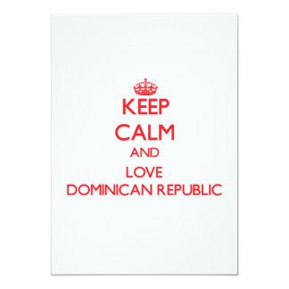 Keep Calm and Love Dominican Republic 13 Cm X 18 Cm Invitation Card
