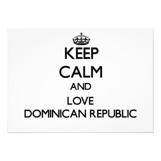 Keep Calm and Love Dominican Republic Personalized Invitation