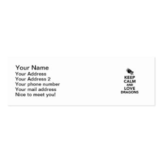 Keep calm and love dragons business cards