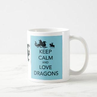 Keep Calm and Love Dragons Classic White Coffee Mug