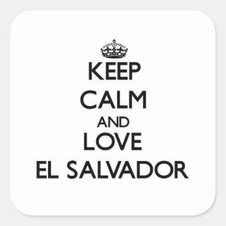 Keep Calm and Love El Salvador Square Sticker