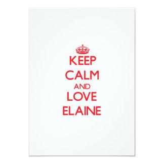 Keep Calm and Love Elaine 13 Cm X 18 Cm Invitation Card