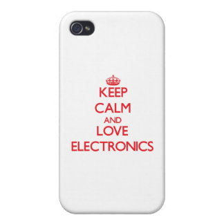 Keep calm and love Electronics Cover For iPhone 4