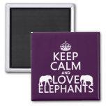 Keep Calm and Love Elephants (any colour)