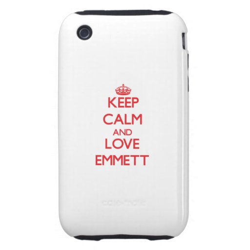 Keep Calm and Love Emmett Tough iPhone 3 Cases