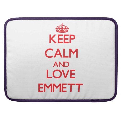 Keep Calm and Love Emmett MacBook Pro Sleeve