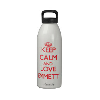 Keep Calm and Love Emmett Reusable Water Bottle