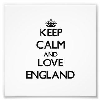 Keep Calm and Love England Photographic Print