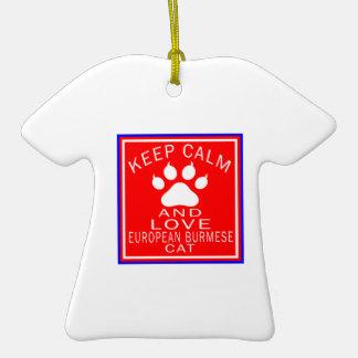 Keep Calm And Love European Burmese Ceramic T-Shirt Decoration