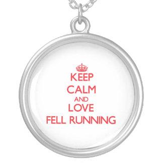 Keep calm and love Fell Running Pendants