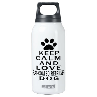 Keep Calm And Love Flat-Coated Retriever Dog