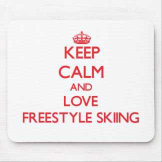 Keep calm and love Freestyle Skiing Mousepad