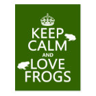 Keep Calm and Love Frogs (any background colour) Postcard