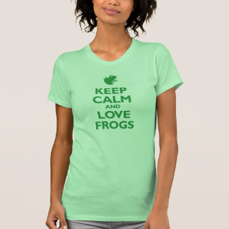 Keep Calm and Love Frogs (kelly green) Tshirts