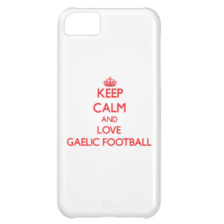 Keep calm and love Gaelic Football Case For iPhone 5C