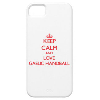 Keep calm and love Gaelic Handball Cover For iPhone 5/5S