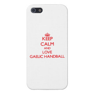 Keep calm and love Gaelic Handball iPhone 5 Cover