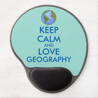 Keep Calm and Love Geography Customizable Gel Mouse Pad