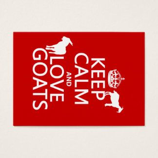 Keep Calm and Love Goats Business Card