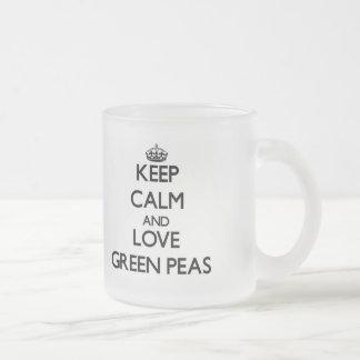 Keep calm and love Green Peas Coffee Mug