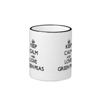 Keep calm and love Green Peas Coffee Mugs
