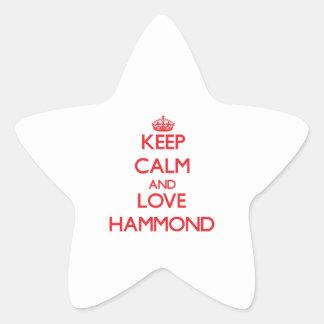Keep calm and love Hammond Star Sticker