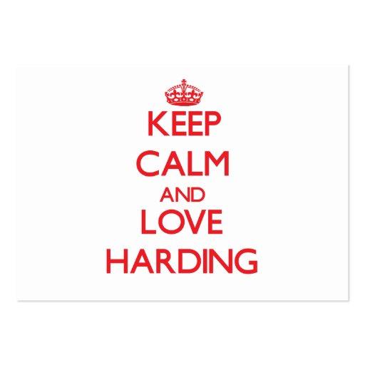Keep calm and love Harding Business Card