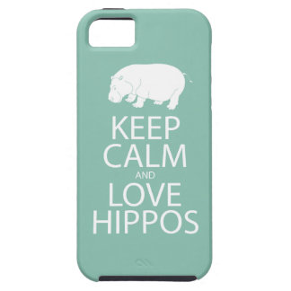 Keep Calm and Love Hippos Print Hippopotamus iPhone 5 Covers