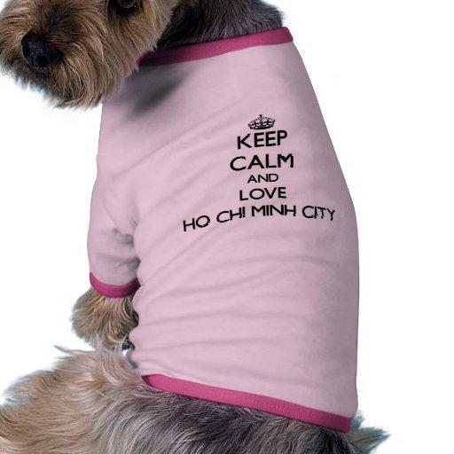 Keep Calm and love Ho Chi Minh City Doggie Tshirt