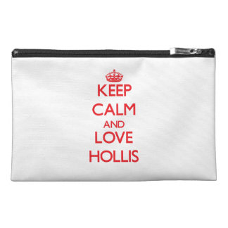 Keep Calm and Love Hollis Travel Accessory Bags