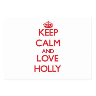 Keep Calm and Love Holly Business Card Templates