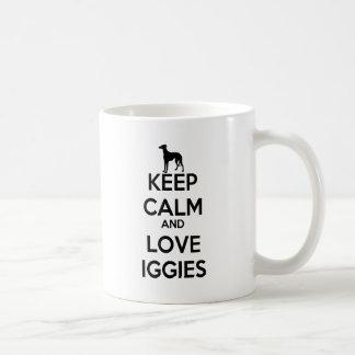 Keep Calm and Love Iggies Coffee Mugs