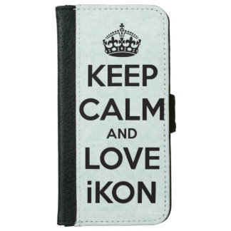 Keep calm and love IKON iPhone 6 Wallet Case