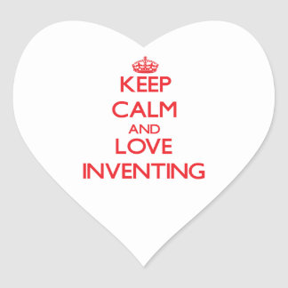 Keep calm and love Inventing Stickers