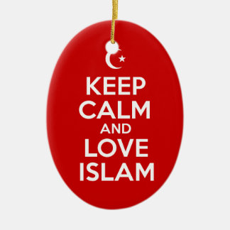 Keep Calm and Love Islam Ceramic Ornament