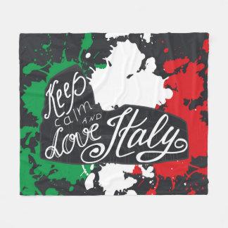 Keep Calm and Love Italy Fleece Blanket