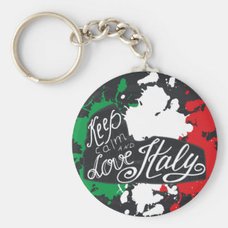 Keep Calm and Love Italy Key Ring