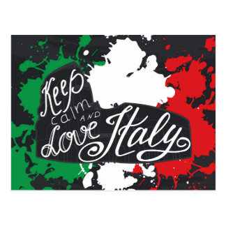 Keep Calm and Love Italy Postcard
