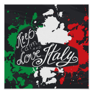 Keep Calm and Love Italy Poster