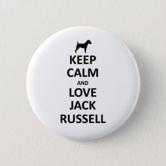 Keep calm and love Jack russell.jpg 6 Cm Round Badge