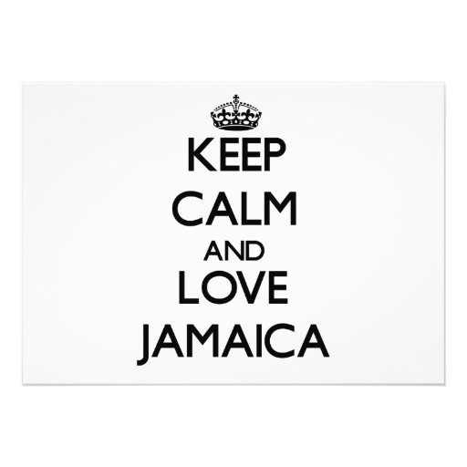 Keep Calm and Love Jamaica Personalized Invites