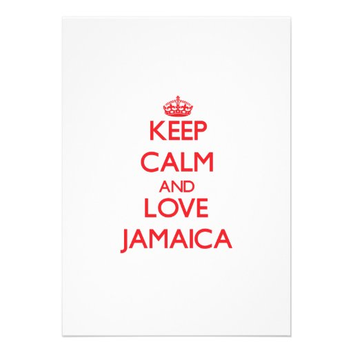 Keep Calm and Love Jamaica Personalized Invitation