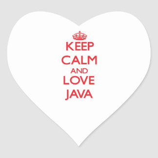 Keep calm and love Java Stickers